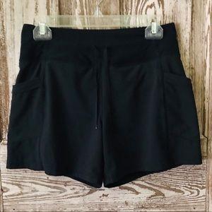 Lucy Black Athletic Gym Yoga Shorts Size XS